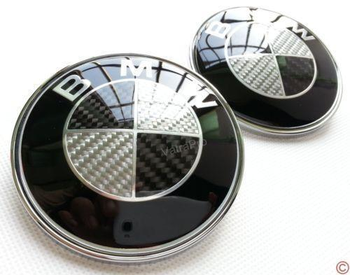 bmw carbon fiber emblem set ebay. Black Bedroom Furniture Sets. Home Design Ideas