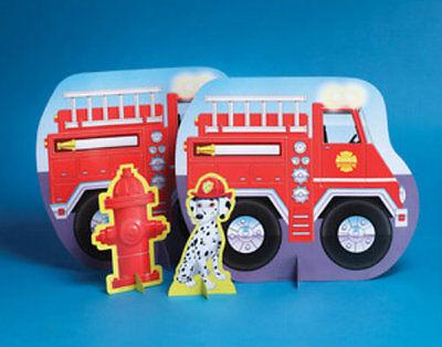 Firefighter Fire Man Party Centerpiece - Birthday Party Supplies (Firefighter Centerpieces)