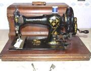 Antique Hand Crank Sewing Machine