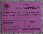LED Zeppelin Concert Ticket