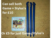 3 New 3DS XL Stylus's (Also selling Code Name Steam/S.T.E.A.M Nintendo 3DS Game)