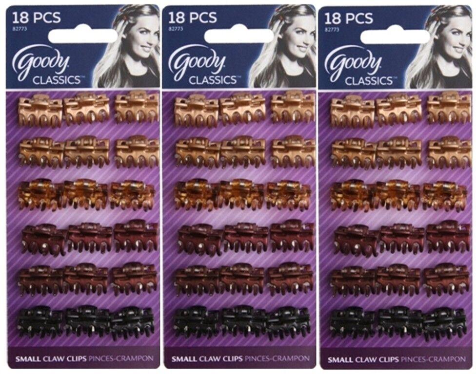 Goody Women's Classics Mini Bow Tie Claw Clip, 18 Count