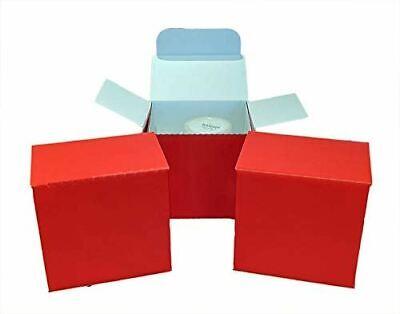 10 X Small Mug Postal Box - 100mm x 100mm x 100mm (Gloss RED)