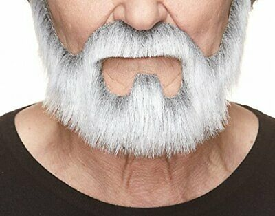 Fake Grey Beard (Mustaches Self Adhesive, Novelty, On Bail Fake Beard, False (Gray With)