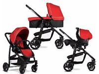 Graco EVO 3-in-1 Travel System (inc Carseat & Carrycot) Chili Red