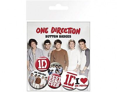 ONE DIRECTION best song ever - BUTTON BADGE PACK - SET OF 6 official (Best One Direction Merchandise)