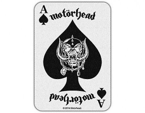 MOTORHEAD ace of spades card 2014 WOVEN SEW ON PATCH official merchandise LEMMY