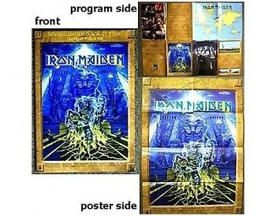 IRON MAIDEN somewhere back 1st LEG 2008 tour postergram