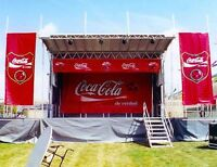 Professional stage, sound, lighting and show for outdoor events