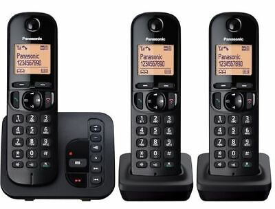 Panasonic KX-TGC223GB Trio - Analog Schnurloses Telefon + AB schwarz *NEUWARE*
