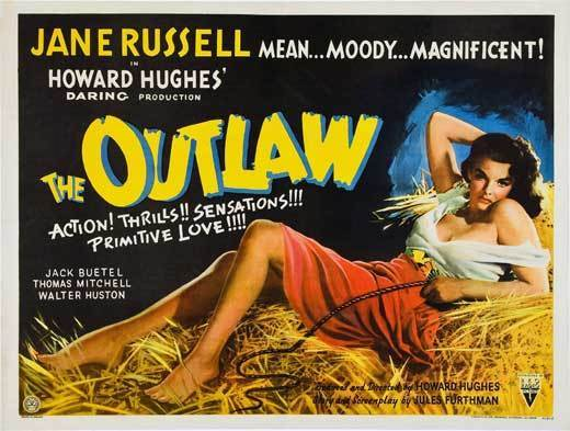 THE OUTLAW Movie POSTER 30x40 UK Jane Russell Jack Buetel Walter Huston Thomas