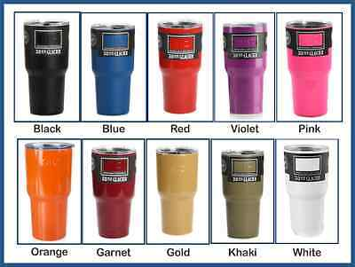 Personalized Cups With Lids (Personalized SIC 30oz GLACIER Stainless Steel Cup with SIC Splash Proof)