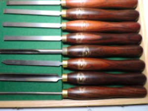 Crown Piece hand wood turning chisels From Sheffield England