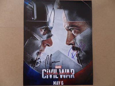 Chris Evans Robert Downey Jr. Signed *Autographed Photo
