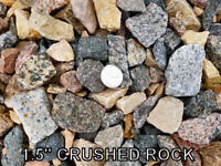 Crushed Rock - Crusher Dust - Gravel - Natural Round Rock - Sand