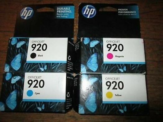 HP 920 3-Pack Ink Cartridges Cyan/Magenta/Yellow n9h55fn#140