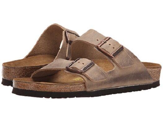 birkenstock arizona soft footbed sandal tobacco oiled leather 37