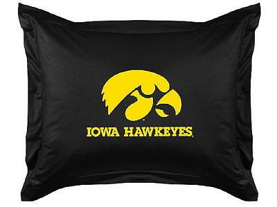 NEW UNIVERSITY OF IOWA HAWKEYES Jersey Standard Pillow Sham LR ()