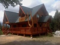 Log home and timber frame refinishing and restoration services