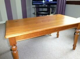 coffee table , pine. in good condition