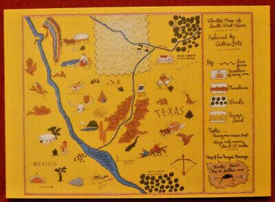 THE LONE RANGER - Card #36 - Dart 1997 - TONTO'S HUNT MAP - SOUTHWEST TEXAS