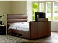 double tv bed brown