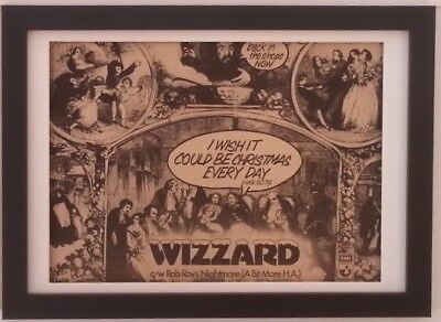 WIZZARD*ROY WOOD*Christmas Wish*1974*ORIGINAL*A4*ADVERT*FRAMED*FAST SHIPPING