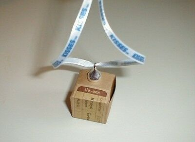 Longaberger Hershey Kiss Basket Tie On Pewter New In Box Genuine Charm Necklace