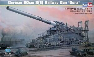PLASTIC MODEL KITS - 1/72 WWII GERMAN TRAIN & RAILWAY GUNS