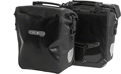 - New Ortlieb Front-Roller City Front Pannier: Pair Black Road Touring Bike