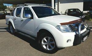 2010 Nissan Navara D40 TURBO ST-X 4x4 White Manual Dual Cab Mackay Mackay City Preview