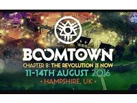 Boomtown full weekend adult ticket (including camping)