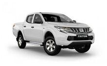 2015 Mitsubishi Triton MQ MY16 GLX Double Cab White Solid 6 Speed Manual Utility Hillcrest Port Adelaide Area Preview