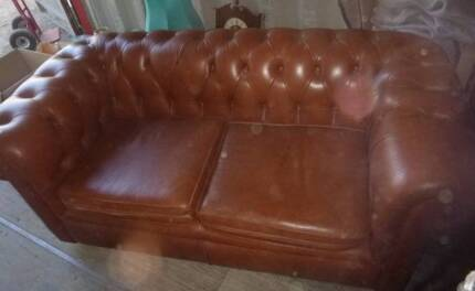 Vintage Chesterfield Light Brown Lounge DEMO Model Taylors Lakes Brimbank Area Preview