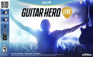 Guitar Hero Live for Wii U (sealed new & inc. guitar)