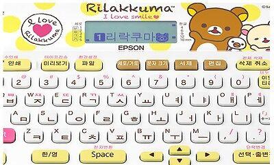 Epson Rilakkuma label printer Korean English tape message printer with battery
