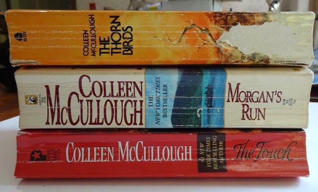 3 Vintage Historical Books Colleen McCullough Thorn Birds Morgan