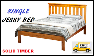 Brand New SINGLE Size Solid Timber Bed Frame FREE DELIVERY New Farm Brisbane North East Preview