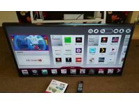 LG 42 inch supper slim line smart led HD TV excellent condition