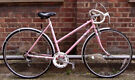 Vintage racing ladies bike RALEIGH hand built frame size 20in - 5 speed , comfy saddle , serviced