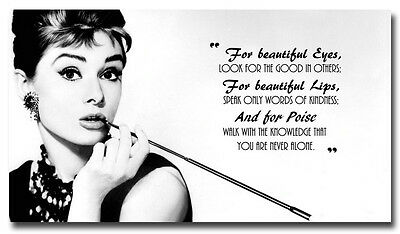 Audrey Hepburn Motivational Quotes Art Silk Poster Print 13X24 24X43 Inches