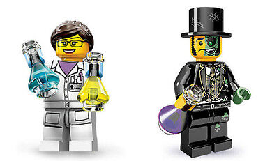LEGO Minifigures - Series 11 Scientist AND Series 9 Mr. Good and Evil - New