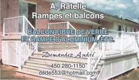 Vente et installation de rampes et balcons.