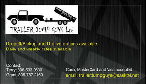 14' DUMP TRAILER FOR RENT- RATES STARTING AS LOW AS $60.00