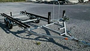 Pontoon Boat Trailer - Single/Tandem, galvanized