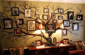 Custom vinyl wall decals family trees any size or colers