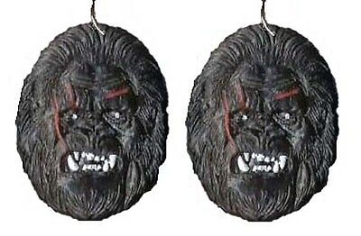Funky KING KONG SASQUATCH EARRINGS Ape Gorilla Movie Character Costume Jewelry](Female Movie Character Costume)
