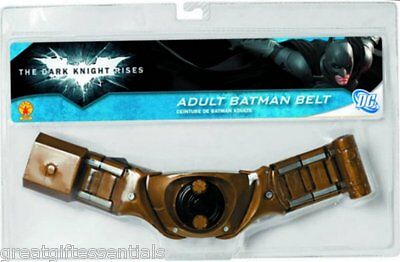BATMAN UTILITY BELT ADULT DARK KNIGHT Costume Accessory Bat Man Gold - Batman Belt