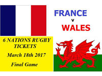 6 NATIONS WALES RUGBY TICKETS, For Sale