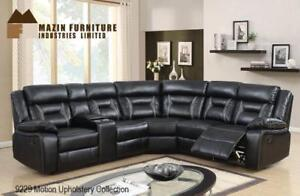 Leather Sectional Recliner in Black on Sale (BD-2463)